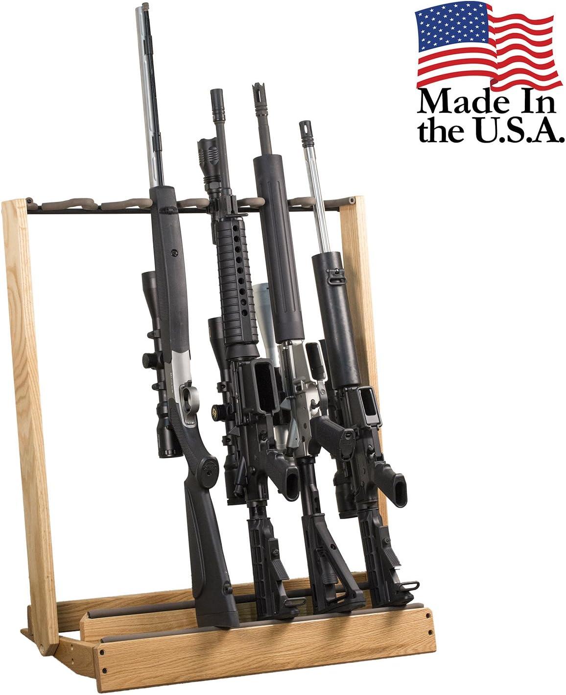Hardwood Folding Gun Rack or Bow Holder: Sports & Outdoors