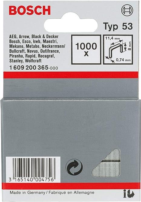 Bosch 1609200369 Fine Wire Staples Type 58 114x074x18 Silver