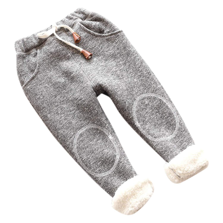 Yasson Girls Warm Leggings Drawstring Trouser Kids camoFleece Sport Full Length Stretchy Pants