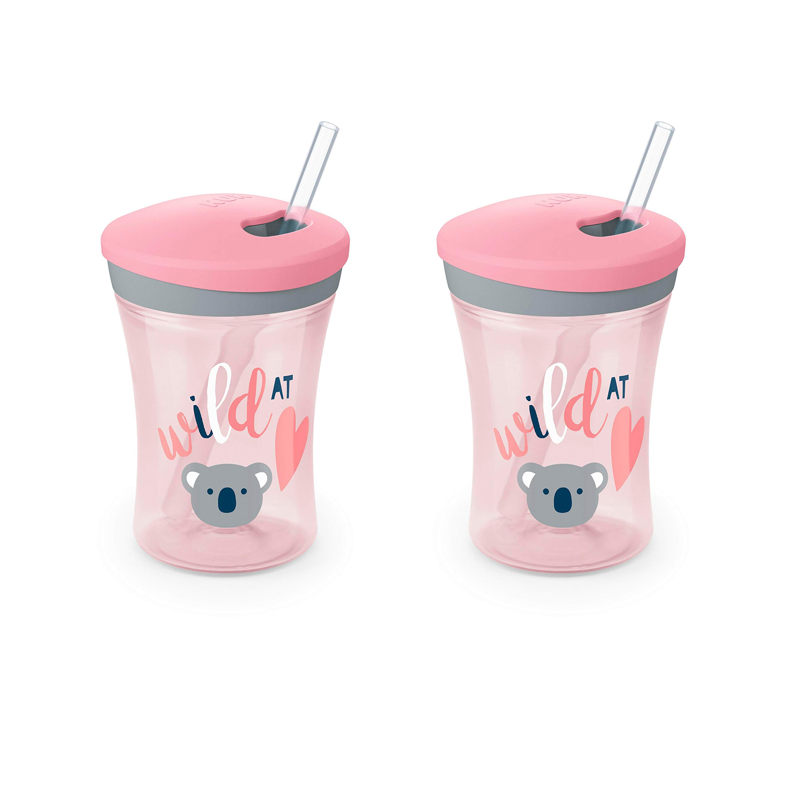 Evolution Straw Cup, 8 oz, 2-Pack by NUK