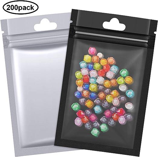 Amazon.com: 200 bolsas de aluminio Mylar con cierre de ...