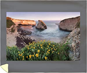 Lantern Press Davenport, Santa Cruz County, California - Panoramic View Over Shark Fin Cove at Sunset 9021698 (88x104 King Microfiber Duvet Cover)