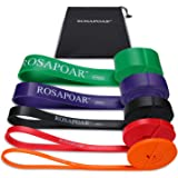 ROSAPOAR Pull Up Resistance Bands Assist Exercise Workout Band Set for Fitness Strength Weightlifting and Powerlifting…