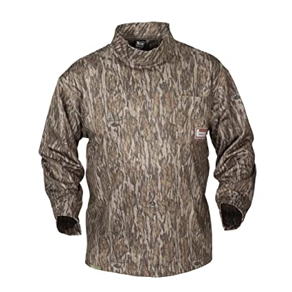 5b131333 Banded B1030007-BL-3XL Tec Fleece Mock Neck Shirt Bottomland, 3X-Large