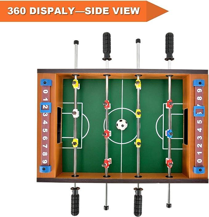 WXXW Futbolín De Mesa Juego Mesa De Fútbol Madera 53x33x12cm para ...