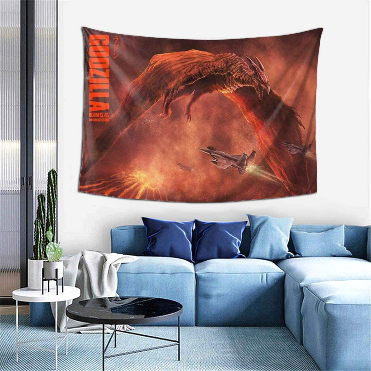 Amazon Com Jaiden Beata Godzilla Rodan Poster Classic Game Studio Room Decorations Tie Dye Hippie Psychedelic Tapestry Anime Poster Tapestries Game Wall Art Hanging Decor Home Kitchen