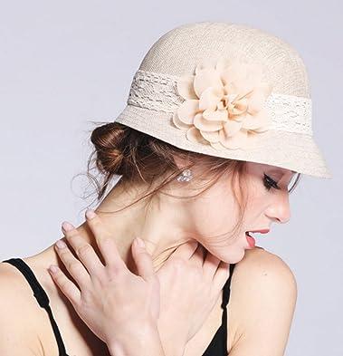 Maitose/™ Womens Wool Felt Bow Flowers Church Bowler Hat