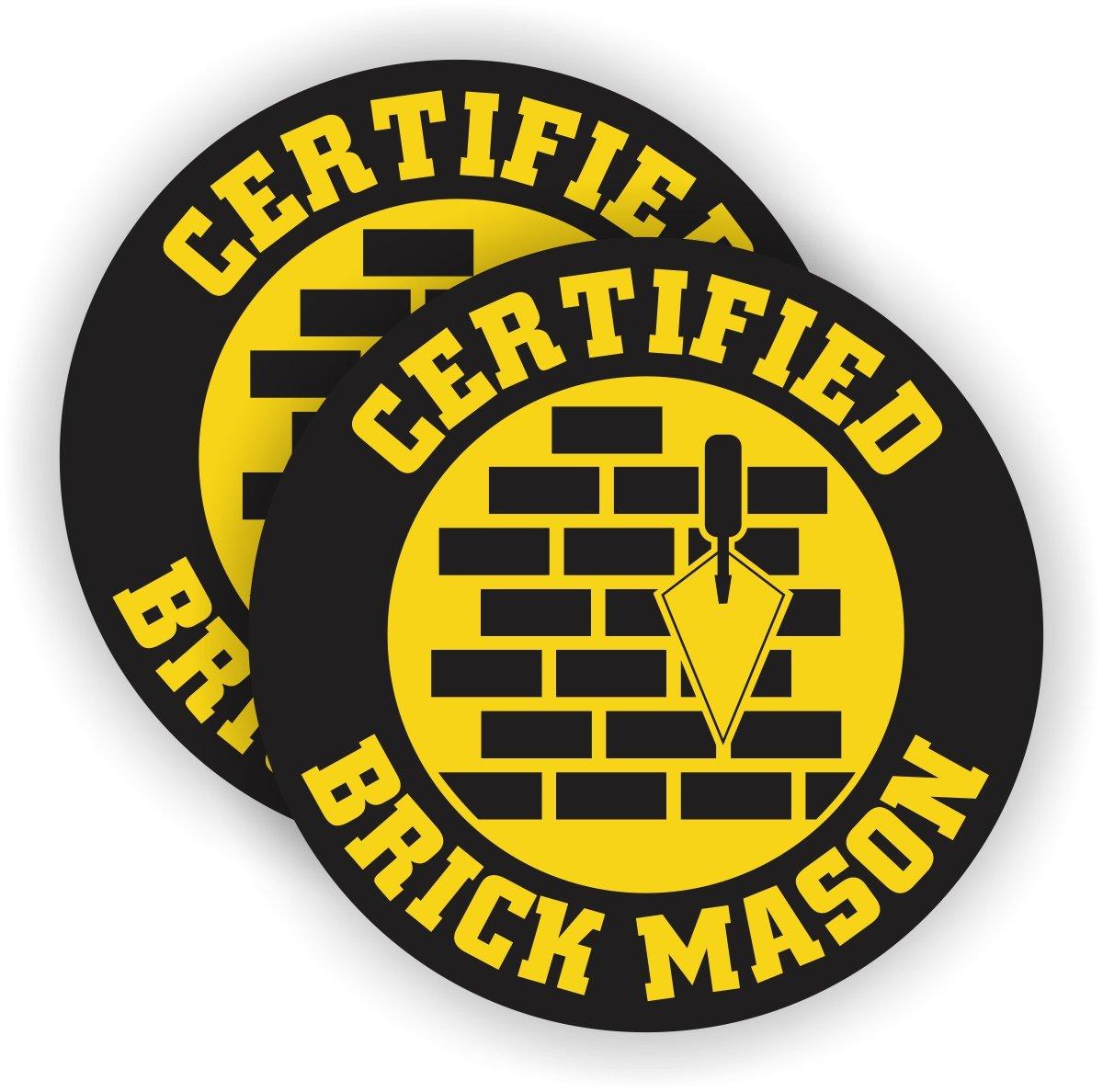 fa80e8a4199 Certified Brick Mason Hard Hat Sticker