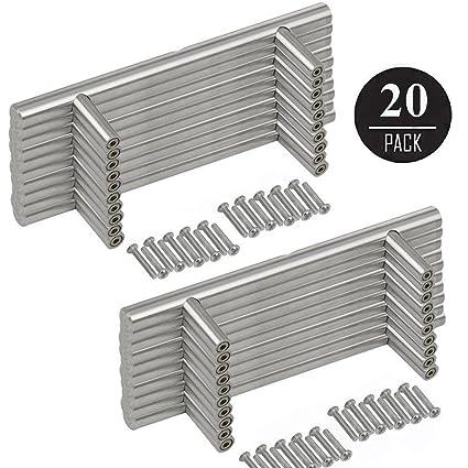 EEEKit 20-pack Stainless Steel Kitchen Cabinet Handles T Bar Pull (6 ...