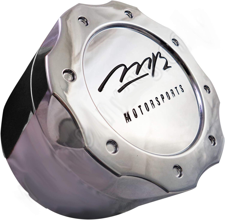 MB Motorsports Wheel Rim 8 Lug Hub Cover Chrome Center Cap BC-671 A /& B BC-671A