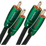 AudioQuest 1m Evergreen RCA - cables de audio (1m, 2 x RCA, 2 x RCA) Negro