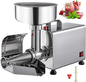 VBENLEM 110V Electric Tomato Strainer 450W ommercial Grade Tomato Milling Machine Stainless Steel Tomato Press And Strainer 90-160 Kg/H Pure Copper Motor Food Strainer and Sauce Maker
