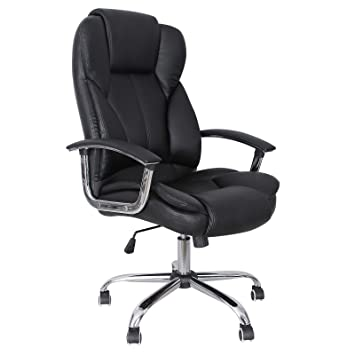 Exceptional SONGMICS Office Chair With High Back Large Seat And Tilt Function Executive  Swivel Computer Chair PU