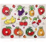 TOYMYTOY Puzzle en Bois Jouet Jeux Educatif Apprentissage pour Enfants Puzzle Encastrement Fruits