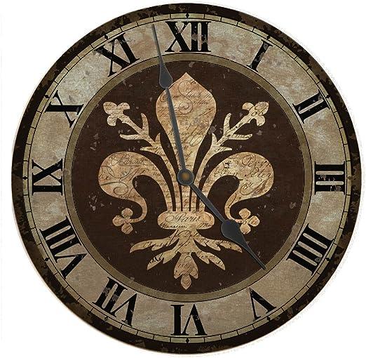Amazon Com Ohio Wholesale Fleur De Lis Clock From Our Everyday Collection Home Kitchen