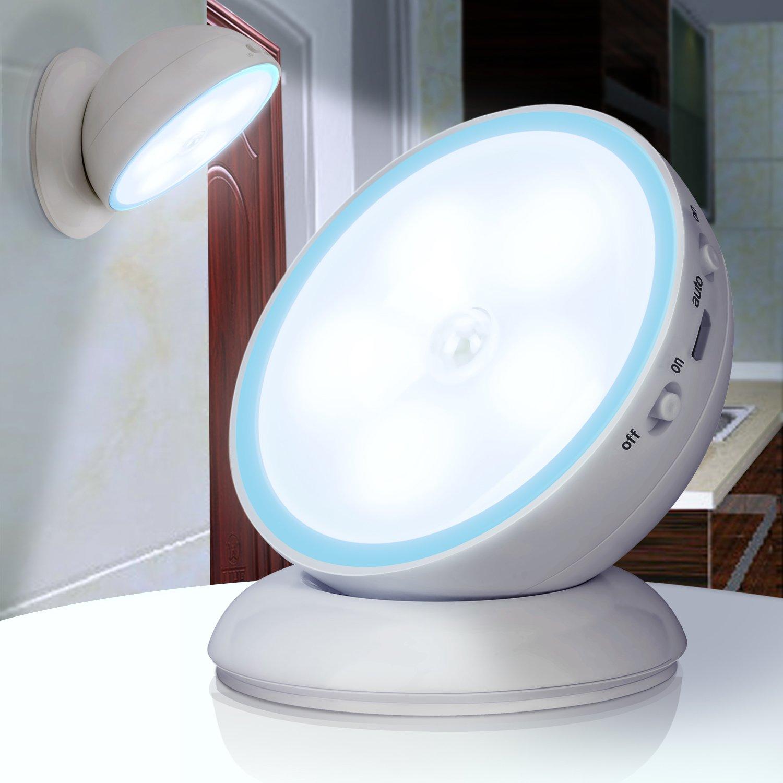 360モーションセンサーライト B0781BM6HW 14894  Blue  Pure White