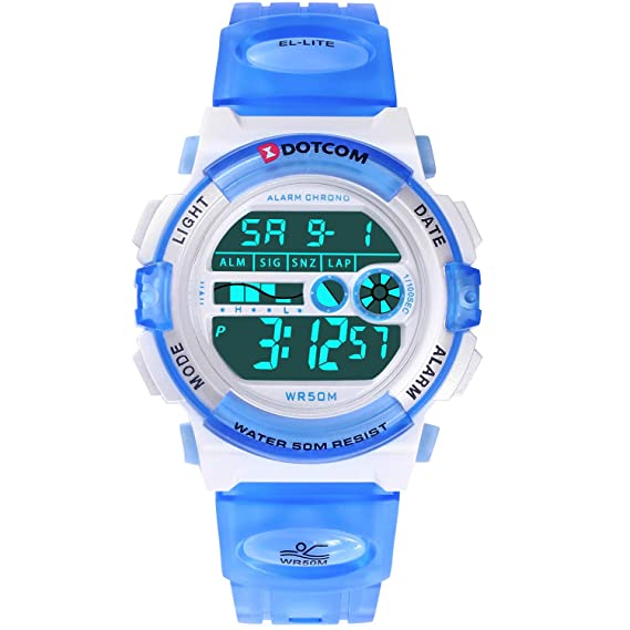 1828c78d1 Digital Watch for Kids, Outdoor Sports Camping Swimming Boys and Girls Watch  Waterproof Electronic Wrist