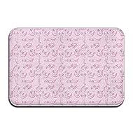 dc09a0e270370 Kui Ju Non-Slip Doormat Entrance Rug Fade Resistant Floor Mats Axolotl Pink  Background Shoes