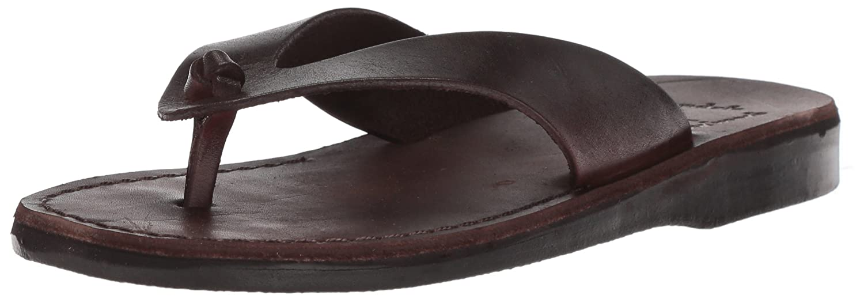 Jerusalem Sandals Men's Solomon Slide Sandal B075M16M4G 45 Medium EU (12-12.5 US)|Brown