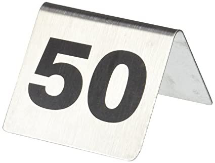 stainless steel table tent number set 26 to 50 amazon co uk