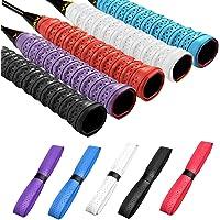 Disino 5 Piezas Grip Raqueta Tenis, Overgrip Tenis Antideslizante para Bádminton, Mangos de Raquetas Autoadhesivo para…