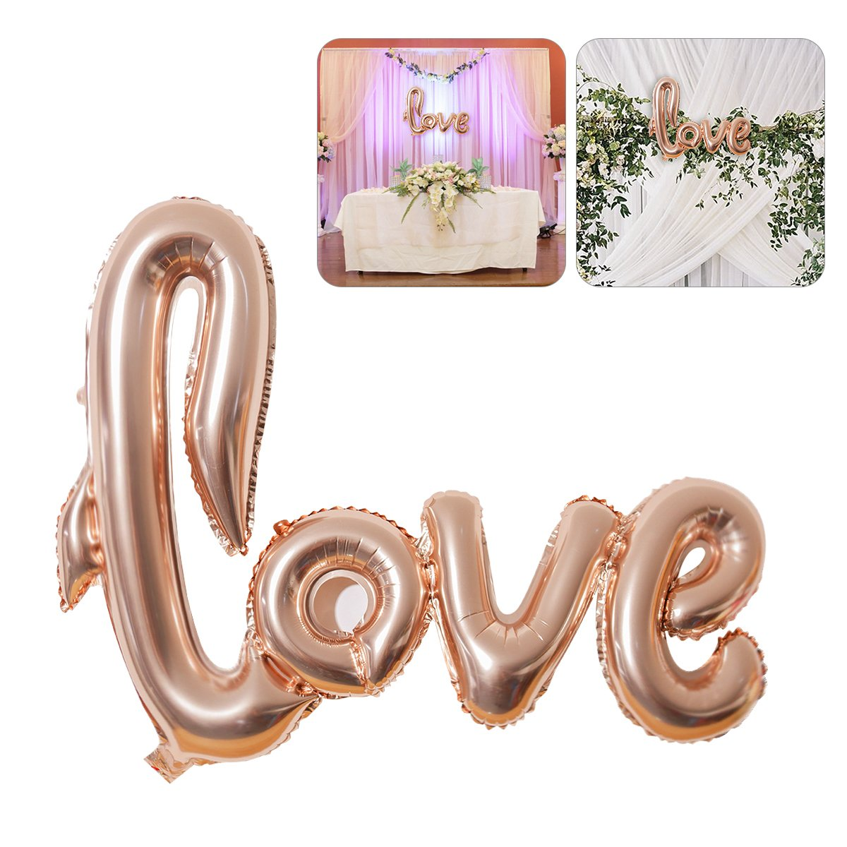 NUOLUX Jumbo Foil Love Balloon Romantic Wedding Bridal Shower Anniversary Engagement Party Decoration (Pink)