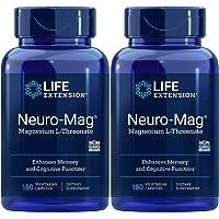 Life Extension Neuro-Mag 150 Veg Caps (Pack of 2), Magnesium L-Threonate, Magtein Supplement