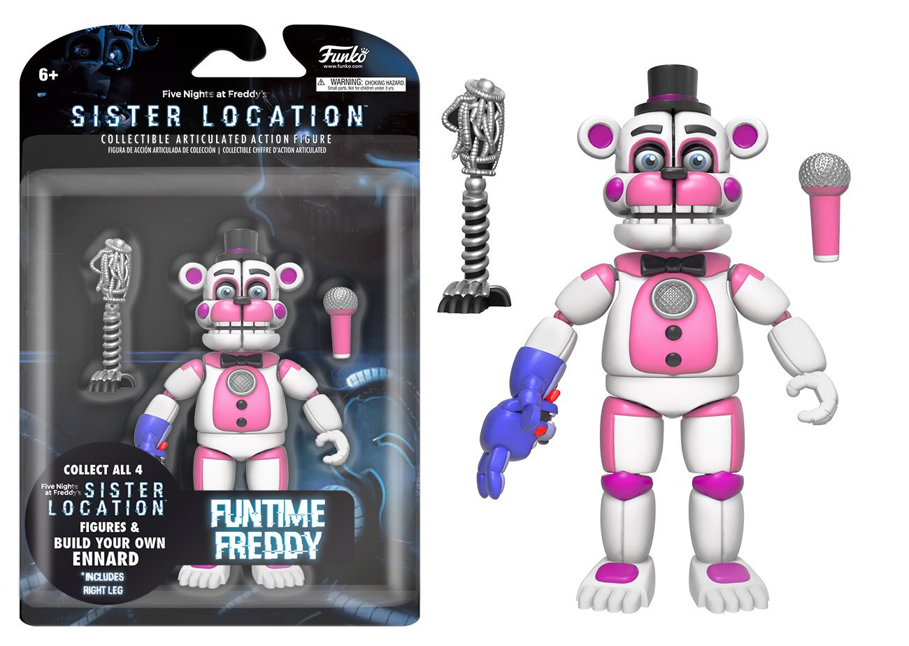Funko Five Nights at Freddy's Funtime Freddy Articulated Action Figure, 5''