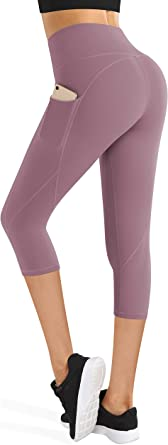 BISUAL High Waisted Yoga Pants with Pockets Tummy Control Workout 4 Way Stretch Yoga Leggings for Women