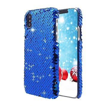 iPhone X Case,FANSONG [Mermaid Series] Lentejuelas Brillante ...
