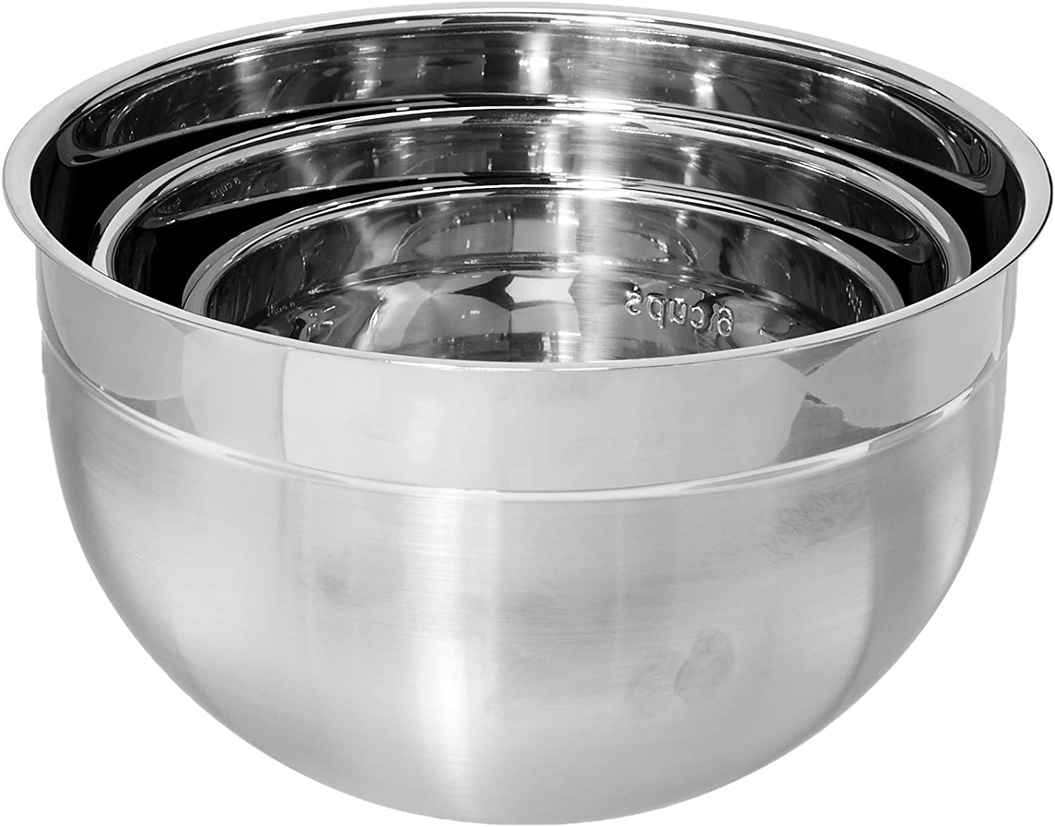 Cuisipro Stainless Steel Mixing Bowl 3 Piece Set