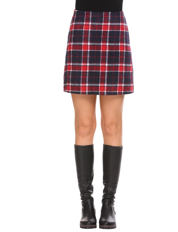 ee79423d1 Dark Green Plaid Mini Skirt