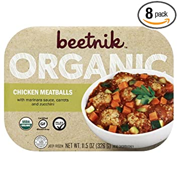 Beetnik Foods Organic Gf Chicken Meatballs 115 Ounce Pack Of 08