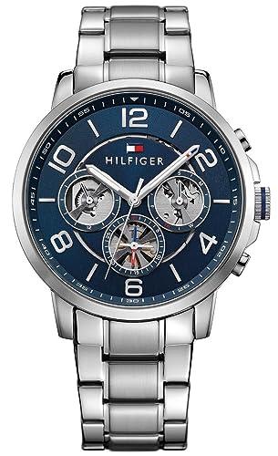 Reloj para hombre Tommy Hilfiger 1791293, mecanismo de cuarzo, diseño con varias esferas, correa de acero inoxidable.: Amazon.es: Relojes