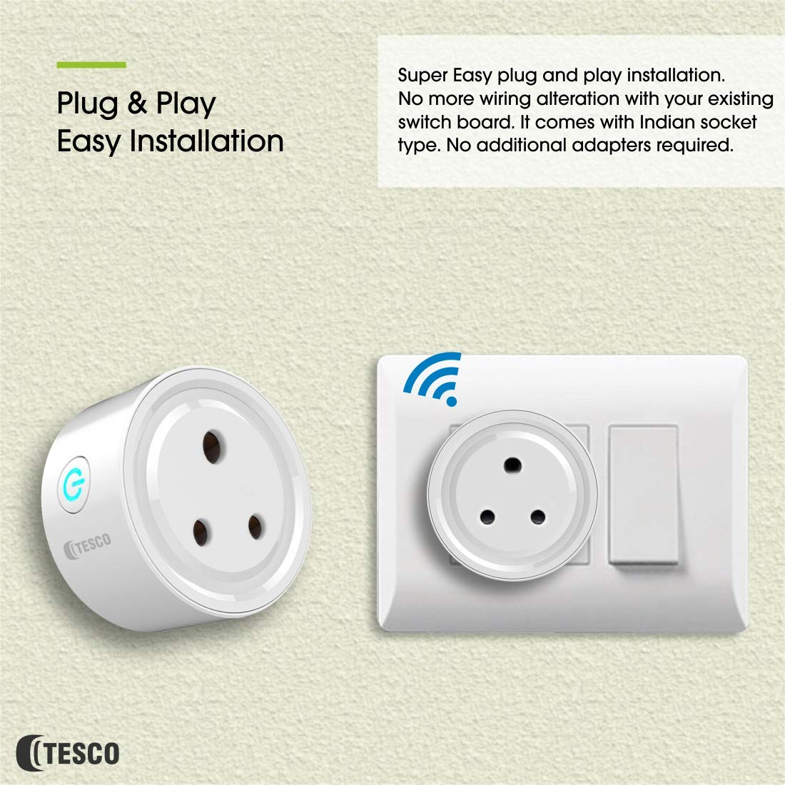 Buy Tesco Smart Wifi Mini Plug Fire Retardant Plastic Socket Switch Wiring A Power Board No Adapter Required Indian Online At Low Prices In India