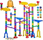 Meland Marble Run - 122Pcs Marble Maze Game Building Toy for