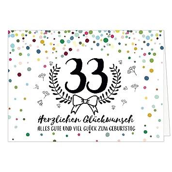 Große Glückwunschkarte Zum 33 Geburtstag Xxl A4 Schnaps