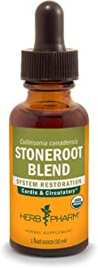 Herb Pharm Certified Organic Stoneroot Blend Liquid Extract for Cardiovascular and Circulatory Support-1 oz (DCOLL01)