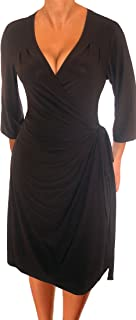 product image for Funfash Plus Size Women Long Sleeves Slimming Wrap Cocktail Dress Made in USA