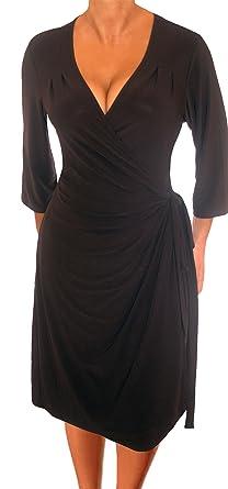 Plus Size Slimming Black Cocktail Dresses