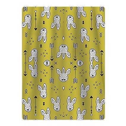 Toalla de baño, diseño de conejos y flechas geométricas, 100% algodón, bonita