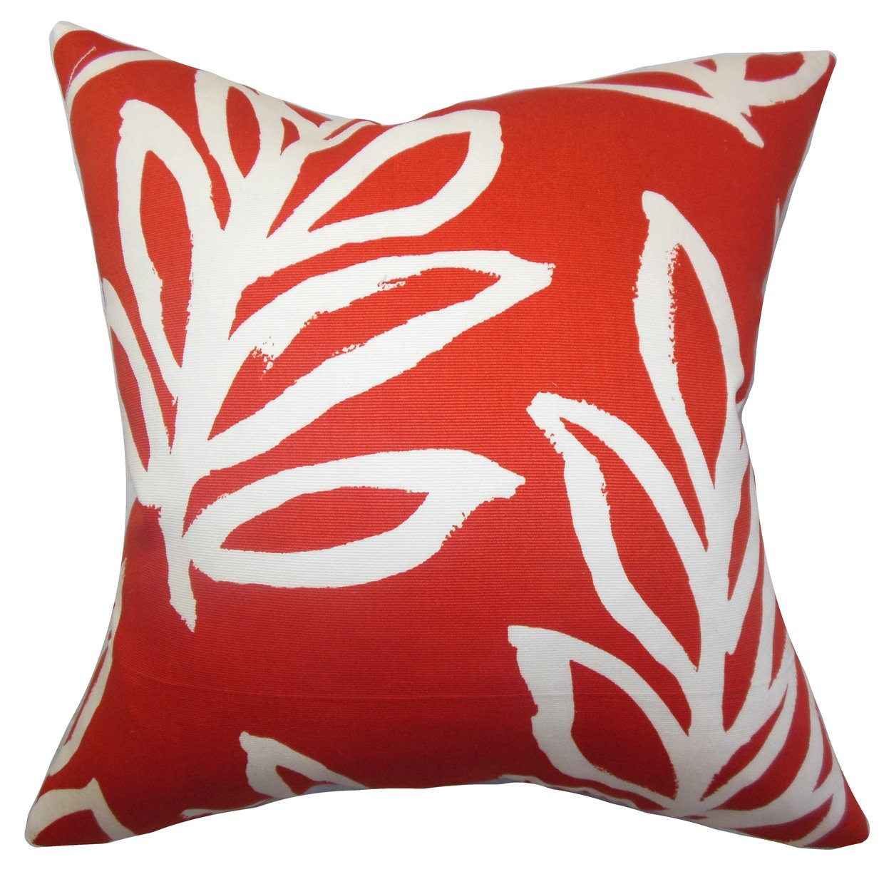 Red The Pillow Collection Razili Floral Pillow