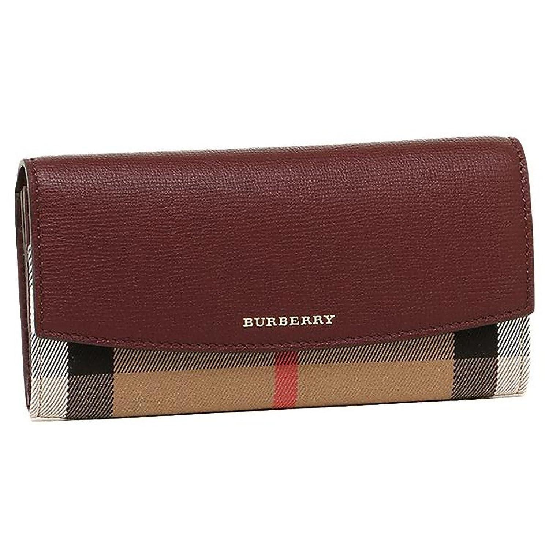 (バーバリー) BURBERRY バーバリー 財布 BURBERRY 3975330 60640 ハウスチェック HOUSE CHECK 長財布 MAHOGANY RED [並行輸入品] B01F8DPU12