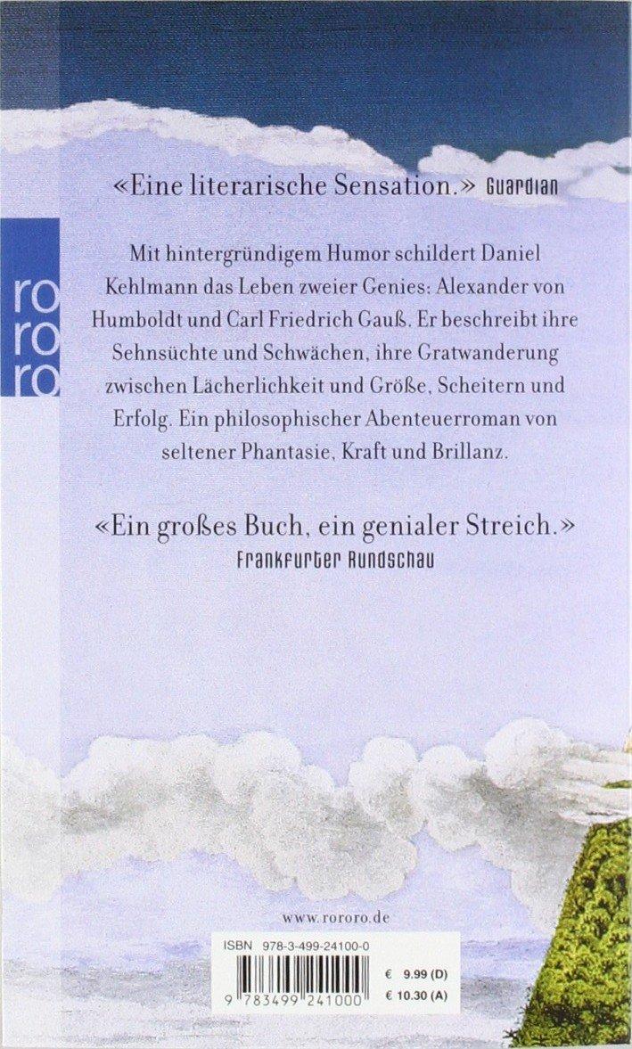 Die Vermessung der Welt: Daniel Kehlmann: 9783499241000: Amazon ...