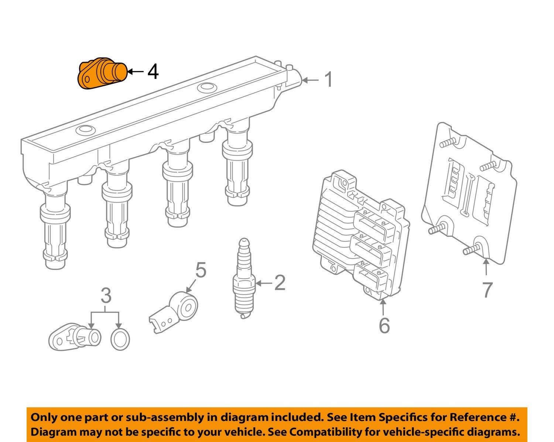 General Motors 55566932 Engine Camshaft Position Sensor Automotive Diagram