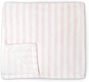 Cute New York Baby Blanket (Pink Stripes) Super Soft Fleece Baby Girl/Baby Boy Blanket/Cozy Blanket/Crib to Toddler/Registry Gift for Boy and Girl/Super Soft