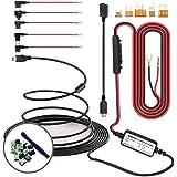 SHISHUO Dash Cam Hardwire Kit - Mini USB And Micro USB Port Extended 4m/13ft Cable with LP Mini/Mini/ATO/Micro2 Fuse…