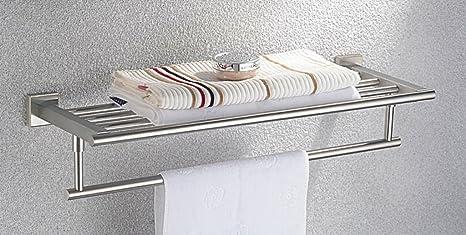 Liebhome cromati sus in acciaio inox asciugamano scaffale con