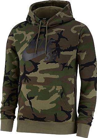 Men Nike Icon Sb Camo Camoflage L Sweatshirt FuKJc31Tl