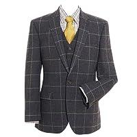Samuel Windsor Men's Single Breasted Tweed Jacket